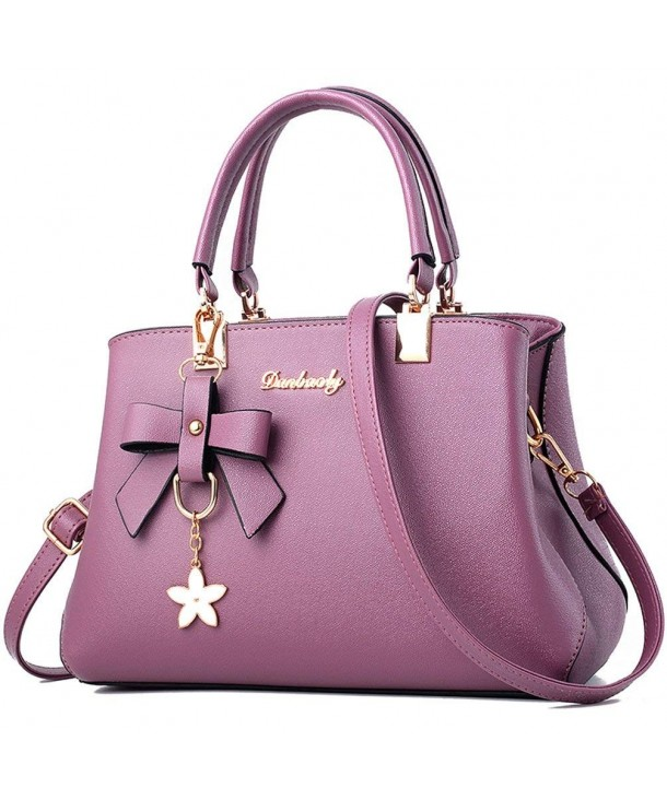 e9d52dd08ff4 ... Women Top Handle Satchel Handbags Shoulder Bag Ladies Designer Purse  Messenger Bags - Violet - CP18ECWR35L. ALARION Handbags Shoulder Designer  Messenger