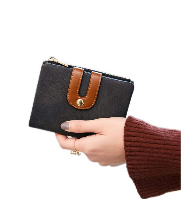 Womens Bifold Leather Wallet Compact