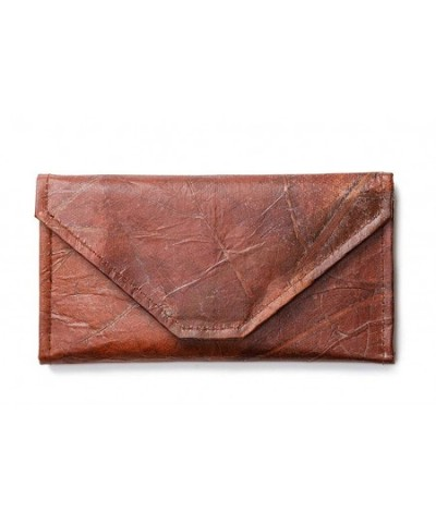 Leaf Leather Envelope Clutch Handmade