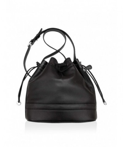 ili Leather Drawstring Crossbody Handbag