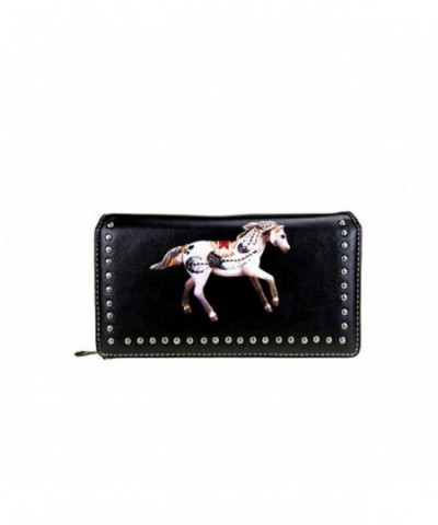 TPP02 W010 Painted Collection Secretary Wallet Black