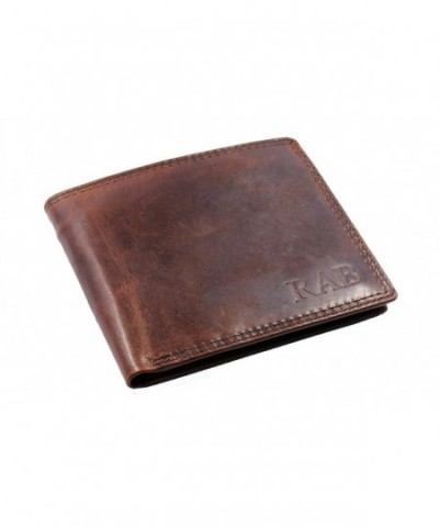 Personalized Leather Wallet Window Pocket