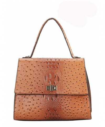 Diophy Leather Animal Handle Handbag
