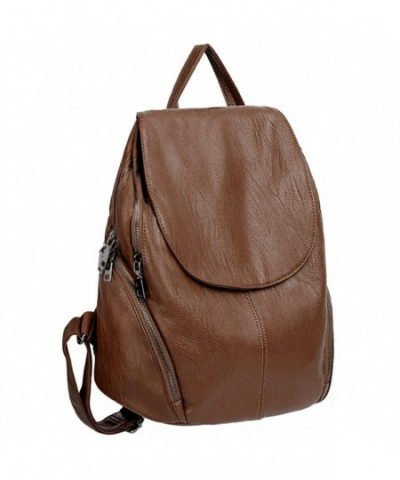 UTO Backpack Capacity Rucksack Bag_Brown
