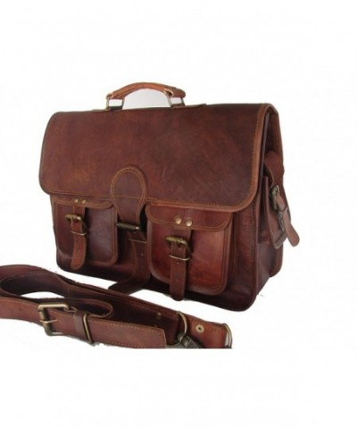 natural leather bags Messenger Brown