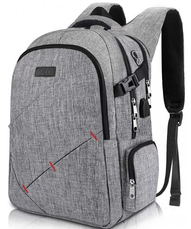 Anti Theft Backpacks Headphone Interface Compartment