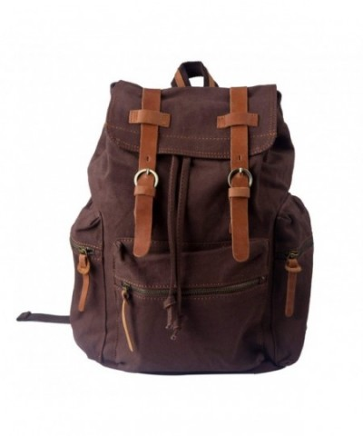 HDE Backpack Vintage Rucksack Bookbag