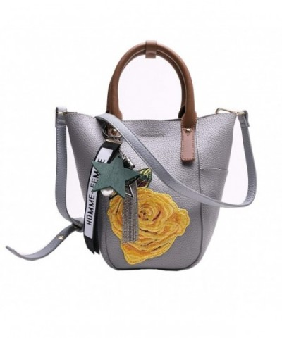 MUSAA Handbags Satchel Shoulder Embroidery