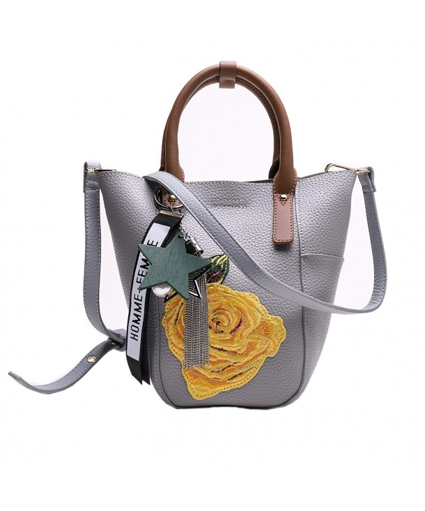 MUSAA Handbags Satchel Shoulder Embroidery