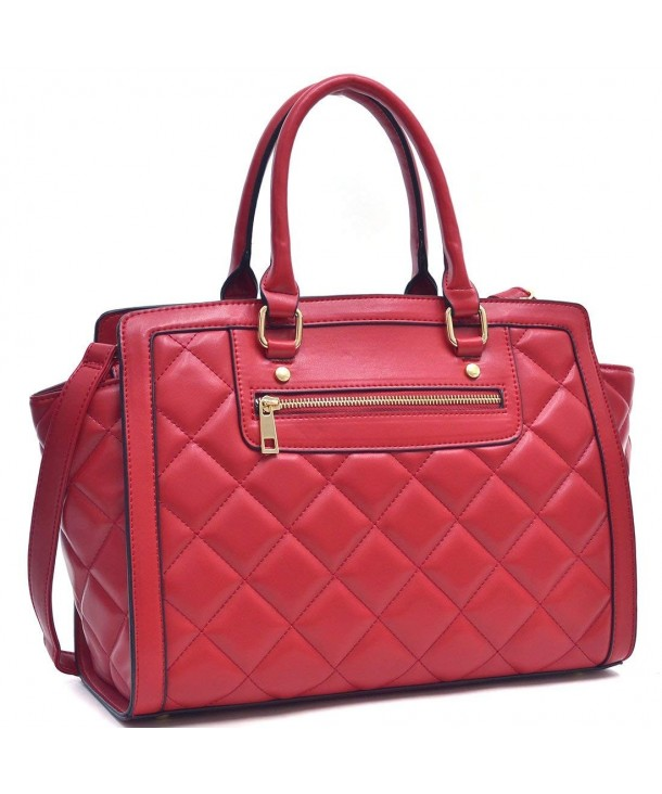 Dasein Quilted Shoulder Convertible Designer