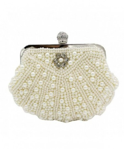 Kingluck Clutches Wedding Occasion off white