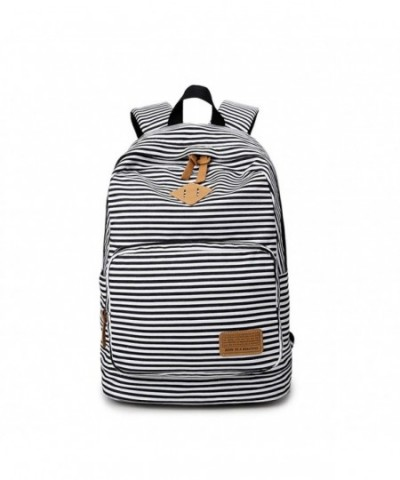 YQWEL Striped Canvas Backpack Daypack