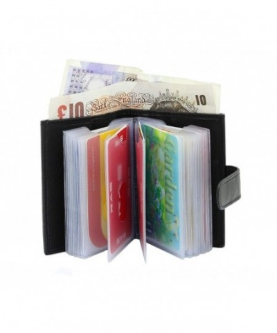 Leather Wallet 20 Plastic Pockets COMPARTMENT