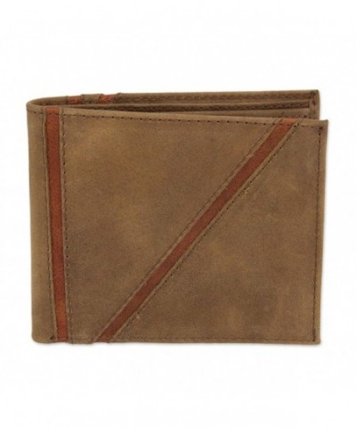 NOVICA Brown Leather Wallet Minimalist