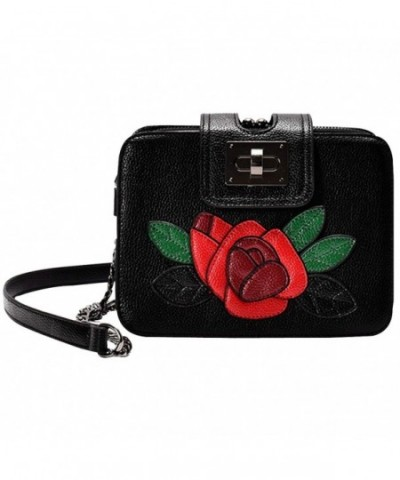 Monique Embroidery Leather Cross body Shoulder
