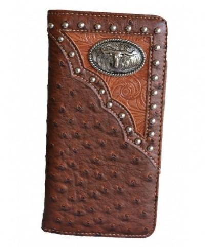 western longhorn animal checkbook wallet
