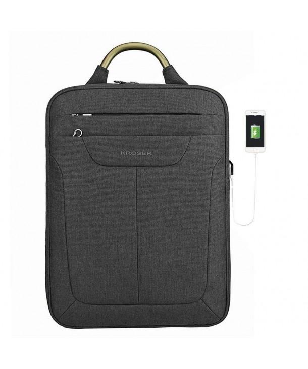 KROSER Backpack Computer Water Repellent Men Charcoal