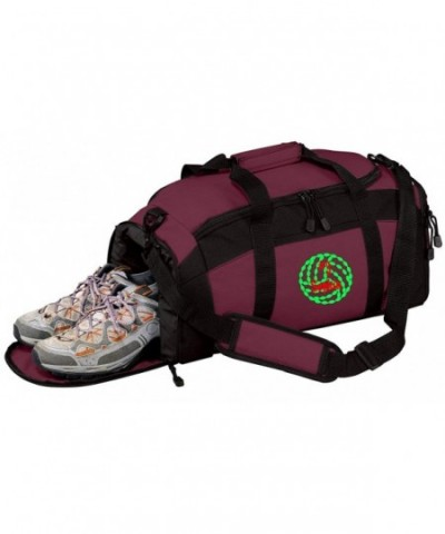 Personalized Volleyball Sports Duffel Maroon