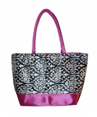 Custom Personalized Damask Canvas Shopping