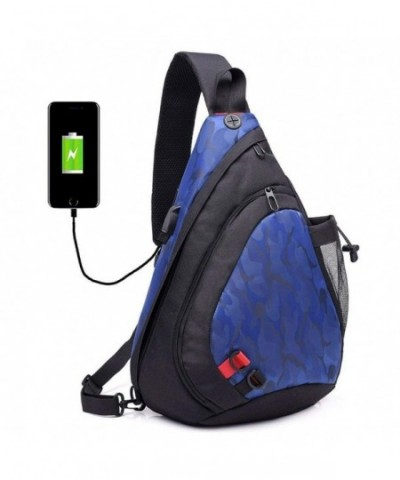 Shoulder Crossbody Backpack Charging camouflage