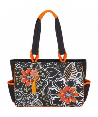 Laurel Burch White Floral Medium