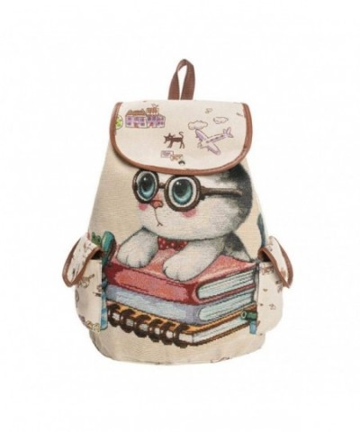 shoulder jacquard embroidered backpack GINELO
