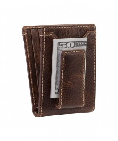 Co BIFOLD Wallet Full Leather Magnetic Pocket