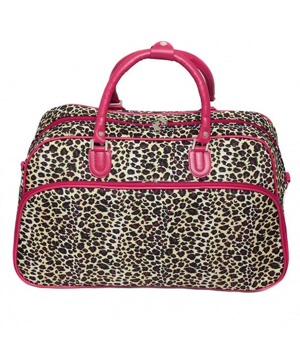 World Traveler 21 Inch Shoulder Leopard