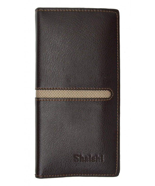 Genuine Leather Checkbook Wallet Bi color