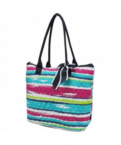 Rainbow Stripes NGIL Quilted Tote