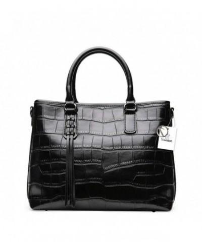 Embossed Crocodile Genuine Handbags Top handle