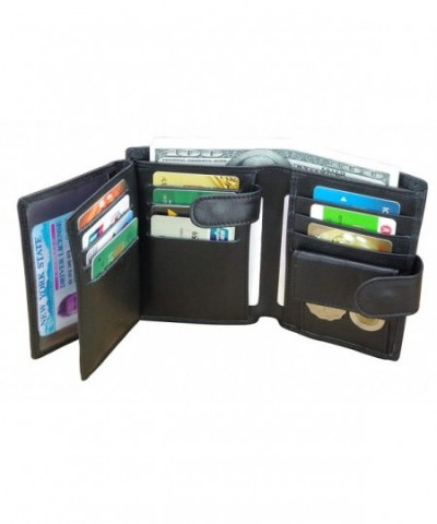 Leather Wallet Blocking Holder Trifold