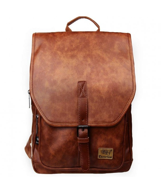 Leather Backpack Fashion Daypack College