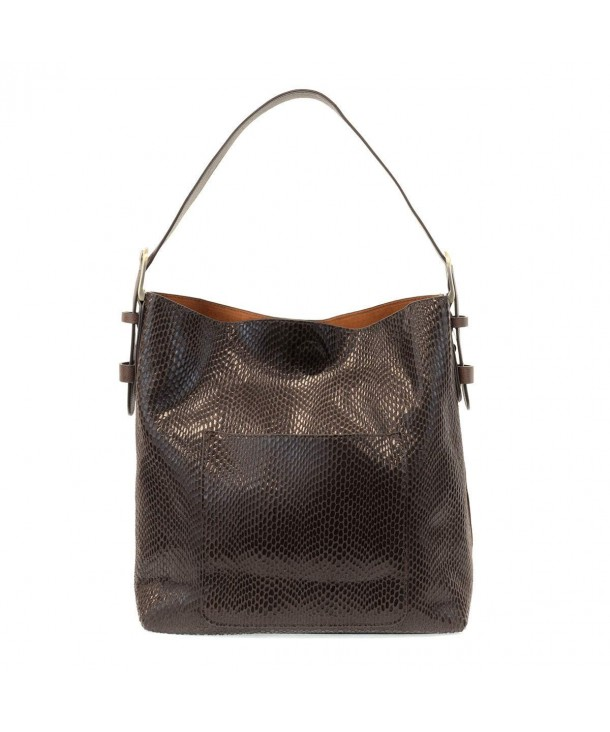 Joy Susan Python Handbag Chocolate