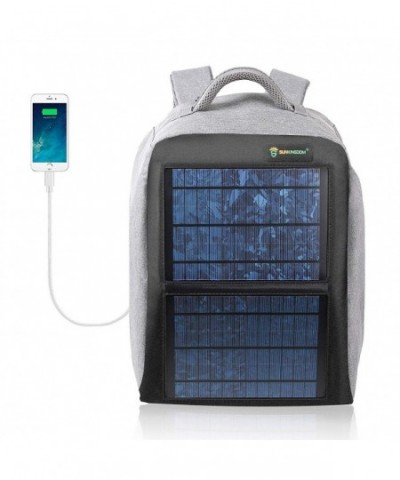 SUNKINGDOM Solar Backpack Waterproof Anti Theft