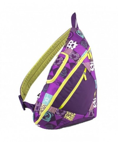 Eastsport Crossbody Trapezoid Backpack Purple