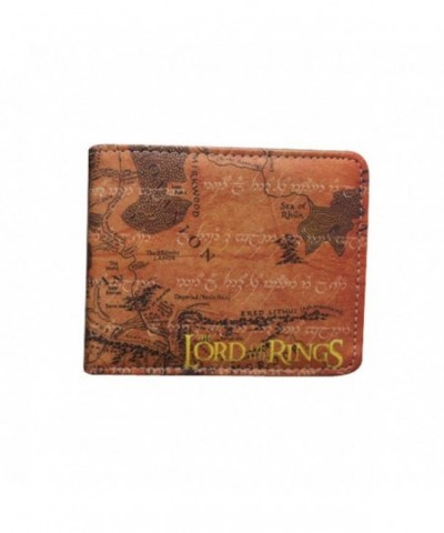 rings Leather Bifold Wallet Brown