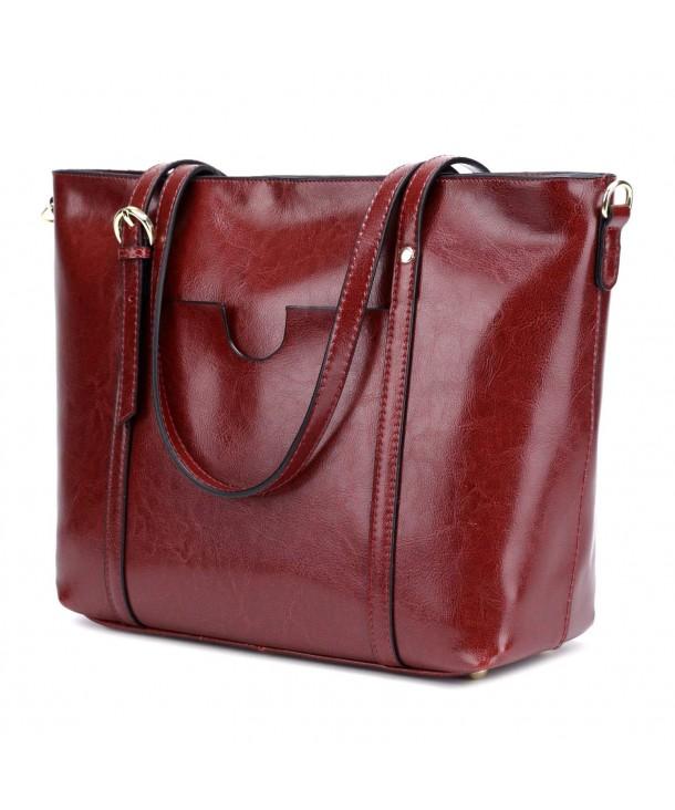 CLELO Genuine Leather Handbag Shoulder
