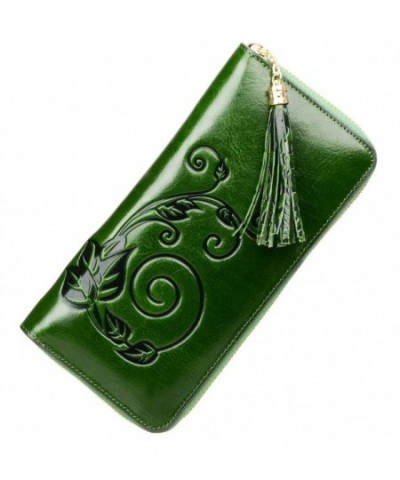 PIJUSHI Designer Genuine Leather green