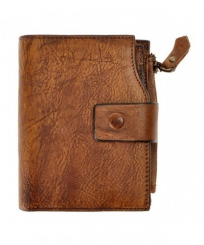 ZLYC Vintage Handmade Leather Wallet