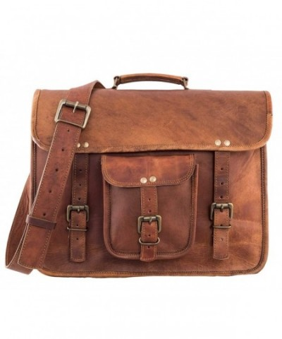 RK Vintage Leather Briefcase Messenger