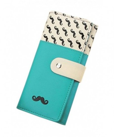 Polytree Womens Mustache Leather Wallet