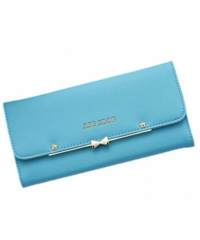 LIZHIGU Womens Leather Wallet Bow knot