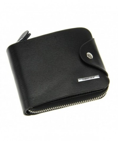 FakeFace Leather Around Wallet Zipper