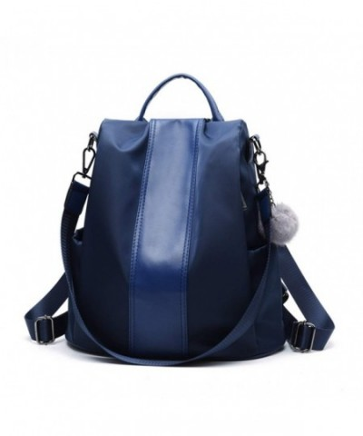 Backpack Anti theft Convertible Shoulder Girls Navy