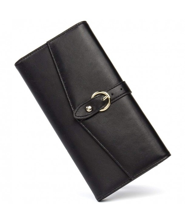 Cluci Womens Blocking Leather Wallets
