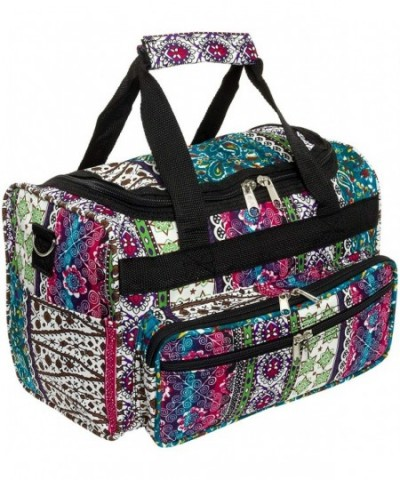 Print Carry Travel Duffle Black
