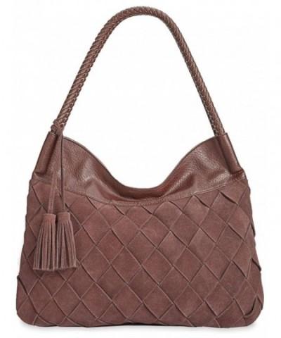 Womens Ella Braided Leather Handbag