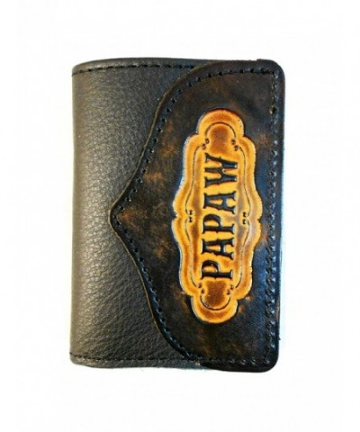 Hilltop Leather Company Handcrafted Trifold