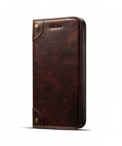 Leather Wallet Phone Protective Cover